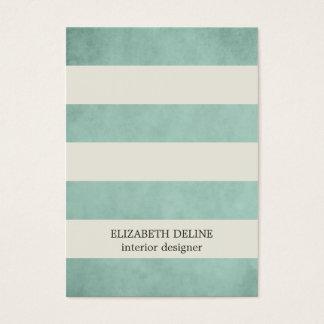 Modern Elegant Texture Green Interior Designer Business Card