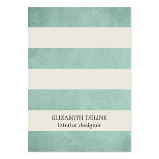 Modern Elegant Texture Green Interior Designer Large Business Card