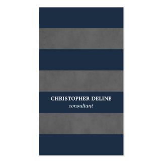 Modern Elegant Texture Grey Blue Consultant Business Card