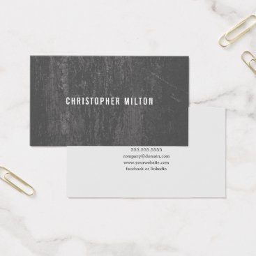 Lawyer Themed Modern Elegant Texture Grey Consultant Business Card