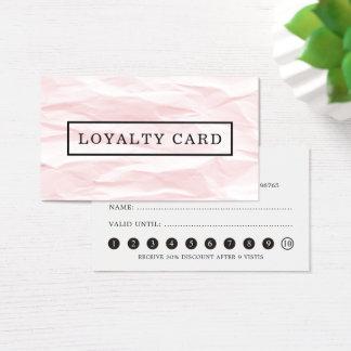 Modern Elegant Texture Pink Grey Loyalty Card