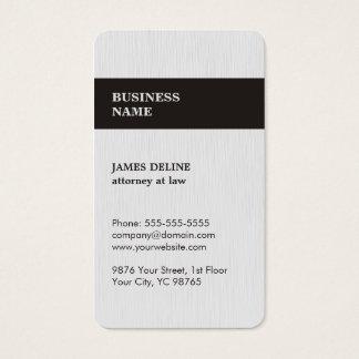 Modern Elegant Texture White Attorney Business Card