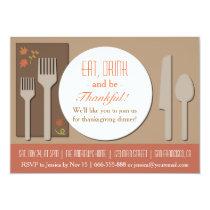 Modern Elegant Thanksgiving Dinner Party Invitation