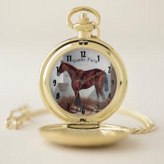 Modern Elegant Trendy Arabian Horse pocket watch