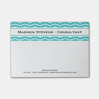 Modern Elegant Turquoise Zig Zag Post-it® Notes