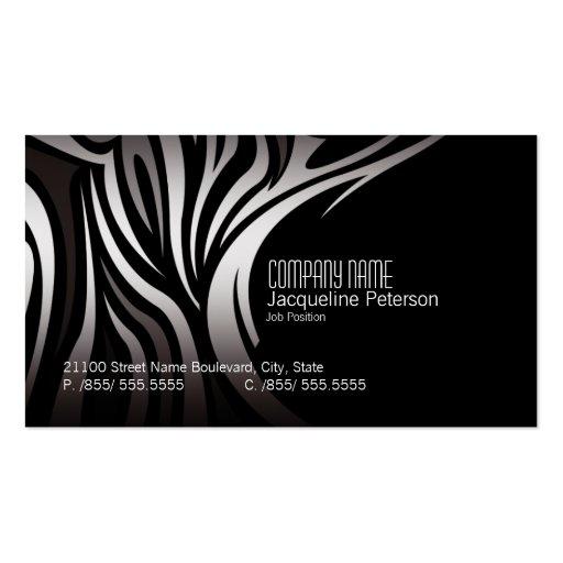 Modern elegant unique zebra fashion business card zazzle for Cool fashion business cards