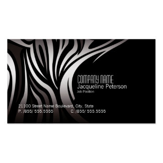 Modern Elegant Unique Zebra  Fashion Business Card