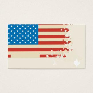 modern elegant US flag business card template