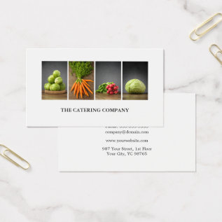 Modern Elegant White Nutrition Coach Chef Business Card at Zazzle