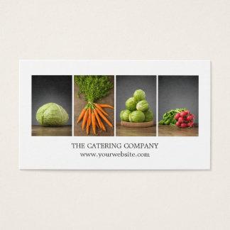 Modern Elegant White Nutrition Coach Chef Business Card