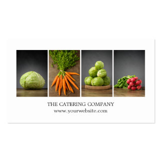 Modern Elegant White Nutrition Coach Chef Double-Sided Standard Business Cards (Pack Of 100)