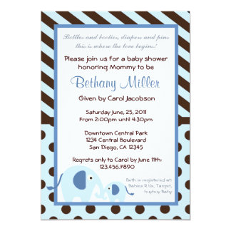 Modern Elephant Baby Shower Invitation