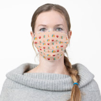 Modern Elmo Pattern Adult Cloth Face Mask