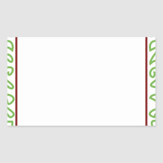 Modern Embroidery 11 Rectangular Sticker