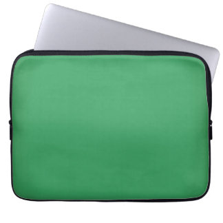 Modern Emerald Green Customizable 13 Inch Computer Sleeve