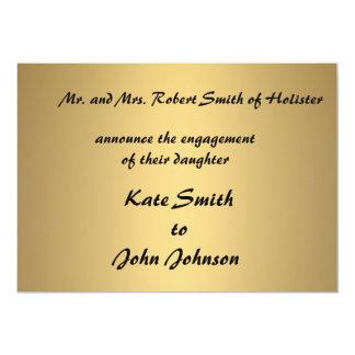 Modern Engagement announcement cards template