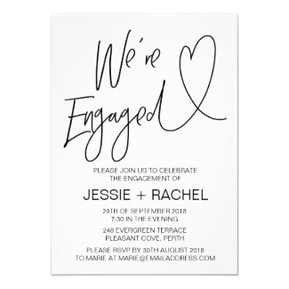 Modern Engagement Invitation