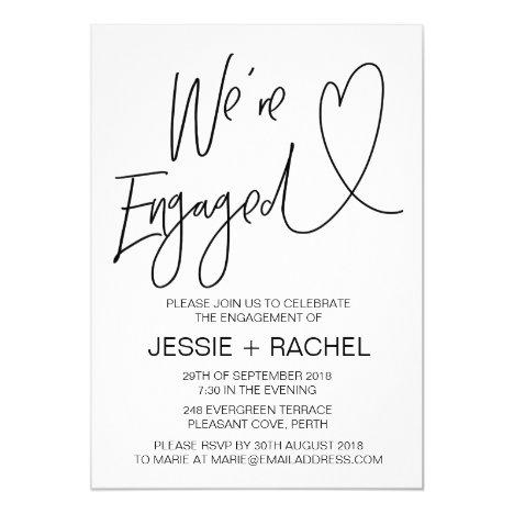 Modern Engagement Invitation