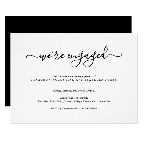 Modern Engagement Party Invitation