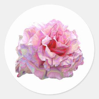 modern english garden rose classic round sticker