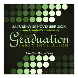 Modern Environment (Green) Graduation Invitation