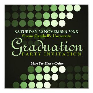 Modern Environment (Green) Graduation Invitation