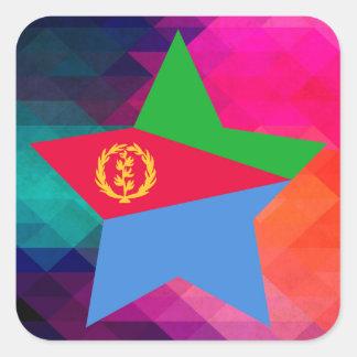 Modern Eritrea Flag Square Sticker