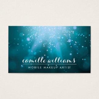 MODERN ETHEREAL BOKEH whimsical magic aqua blue Business Card