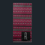 "Modern Ethnic Aztec Patterned Monogram Napkin<br><div class=""desc"">Wow your dinner guests with these native Aztec inspired black and white patterned cloth napkins with customizable background color and monogram letter!</div>"