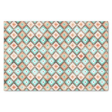 DeskDrawer Modern Ethnic Kilim Mosaic Pattern Watercolor Tissue Paper
