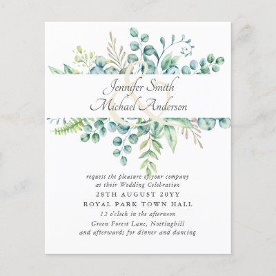 Modern Eucalyptus Wedding Ampersand Greenery