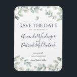 "Modern Eucalyptus Wedding Save the Date Magnets<br><div class=""desc"">Modern Eucalyptus Wedding Save the Date Magnets</div>"