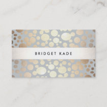 Modern Event Planner Gold & Silver Circle Pattern Business Card