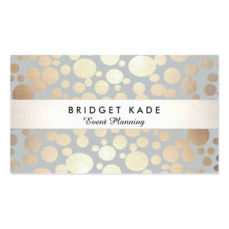 Modern Event Planner Gold & Silver Spotted Pattern Double-Sided Standard Business Cards (Pack Of 100)