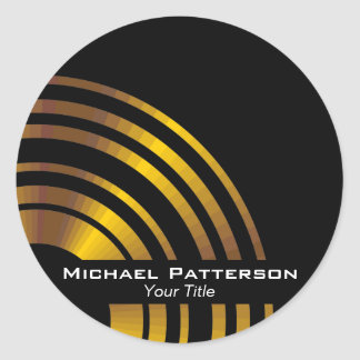 Modern Executive Circles Professional Personalized Classic Round Sticker