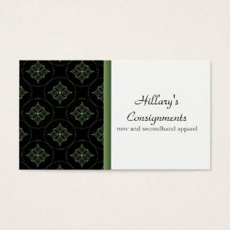 Modern Extravagance Business Card, Green Business Card