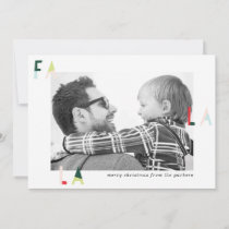 Modern Fa la la Holiday Photo card