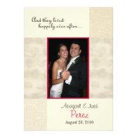 Modern Fairytale Marriage Wedding Announcement