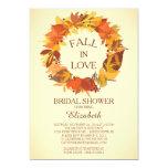 Modern Fall Autumn Wreath Bridal Shower Invitation