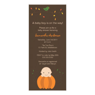 Modern Fall Baby Shower Inviation - Boy Personalized Invitations
