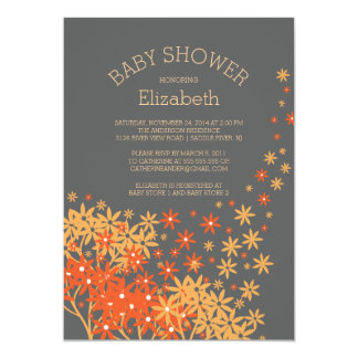 Modern Fall Floral Baby Shower Invitation