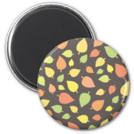 Modern Fall Leaves Magnet
