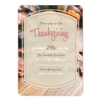 Modern Fall Thanksgiving Invitation