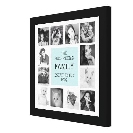 Modern family photo collage with instagram pics stretched for Modern family printer