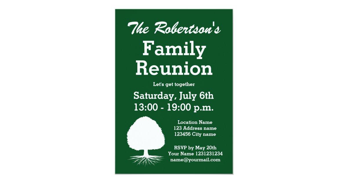 Modern family reunion party invitations | Zazzle.com