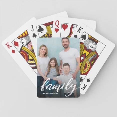 Modern Family Script Photo Playing Cards