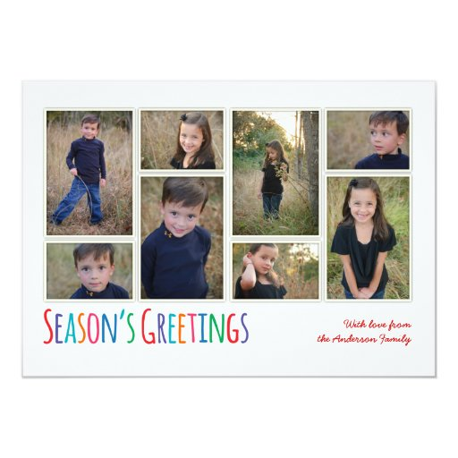 Modern Family Season's Greeting Photo Collage Card Invitations
