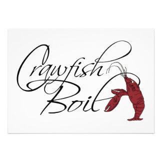 Modern Fancy Script Crawfish Boil Personalized Announcement