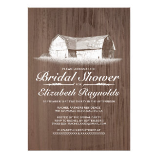 Modern Farm Bridal Shower Invitations Personalized Announcements