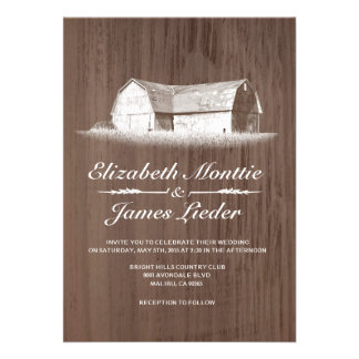 Modern Farm Wedding Invitations Personalized Invitation